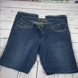 American eagle straight leg blue jeans size 12
